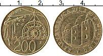 Изображение Монеты Сан-Марино 200 лир 1992 Латунь UNC 500 лет открытия Аме