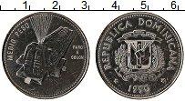 Продать Монеты Доминиканская республика 1/2 песо 1990 Сталь покрытая никелем