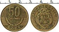 Изображение Монеты Коста-Рика 50 колон 2007 Латунь UNC-