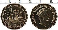 Продать Монеты Белиз 1 доллар 1990 Латунь