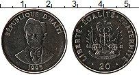 Изображение Монеты Гаити 20 сантим 1995 Медно-никель UNC- Шарлемань Перальт
