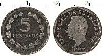 Изображение Монеты Сальвадор 5 сентаво 1994 Медно-никель UNC-
