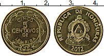 Изображение Монеты Гондурас 5 сентаво 2012 Латунь UNC-