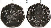 Продать Монеты Ботсвана 5 тебе 2013 Алюминий