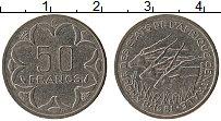 Изображение Монеты Центральная Африка 50 франков 1981 Медно-никель XF