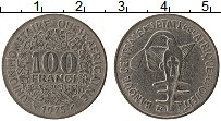 Изображение Монеты Западная Африка 100 франков 1975 Медно-никель XF