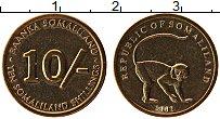 Изображение Монеты Сомалиленд 10 шиллингов 2002 Латунь UNC-