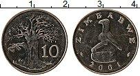 Изображение Монеты Зимбабве 10 центов 2001 Медно-никель UNC-