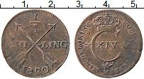 Изображение Монеты Швеция 1/4 скиллинга 1820 Медь VF