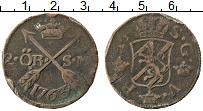 Изображение Монеты Швеция 2 эре 1763 Медь VF Адольф Фредерик