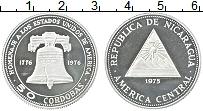Изображение Монеты Никарагуа 50 кордоба 1975 Серебро Proof-