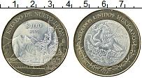 Изображение Монеты Мексика 100 песо 2007 Биметалл UNC- Центральный круг-сер