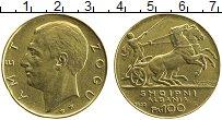 Изображение Монеты Албания 100 франков 1926 Золото UNC- Зог I. Была реставра