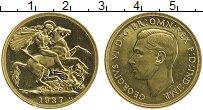Изображение Монеты Великобритания 2 фунта 1937 Золото Proof-