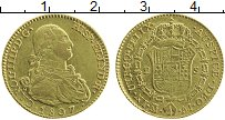 Изображение Монеты Мексика 2 эскудо 1807 Золото XF Чарльз IV. Для колон