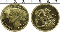 Изображение Монеты Великобритания 5 фунтов 1937 Золото Proof- Георг VI. Царапины и