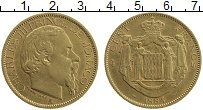 Изображение Монеты Монако 100 франков 1884 Золото XF Карл III. KM #99. Ве