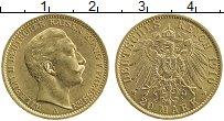 Изображение Монеты Пруссия 20 марок 1910 Золото UNC-