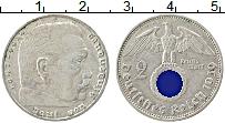 Изображение Монеты Третий Рейх 2 марки 1939 Серебро XF А, Пауль фон Гинденб