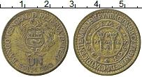 Изображение Монеты Перу 1 соль 1965 Латунь XF-
