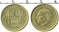 Изображение Монеты Швеция 10 крон 1991 Латунь UNC-
