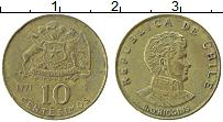 Изображение Монеты Чили 10 сентесим 1971 Латунь XF О Хиггинс