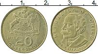 Изображение Монеты Чили 20 сентесим 1971 Латунь XF