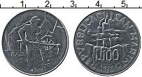 Изображение Монеты Сан-Марино 100 лир 1978 Сталь UNC