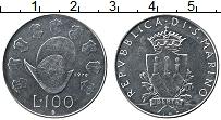 Изображение Монеты Сан-Марино 100 лир 1979 Сталь UNC Шлем Конкистадора