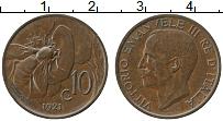 Изображение Монеты Италия 10 сентесим 1921 Бронза XF Витторио Эммануил II