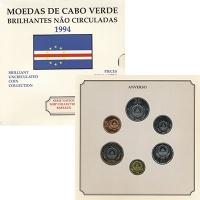 Изображение Наборы монет Кабо-Верде Набор 1994 года, Корабли 1994  Proof Набор из шести монет