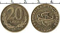 Изображение Монеты Албания 20 лек 2000 Латунь UNC-