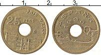 Изображение Монеты Испания 25 песет 1993 Латунь XF