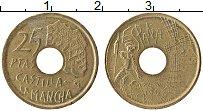 Изображение Монеты Испания 25 песет 1996 Латунь XF Кастилия-Ла-Манча
