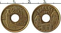 Изображение Монеты Испания 25 песет 1997 Латунь XF Мелилла