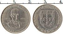 Изображение Монеты Португалия 2 1/2 эскудо 1977 Медно-никель XF
