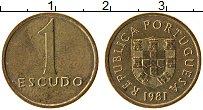 Изображение Монеты Португалия 1 эскудо 1981 Латунь XF