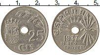 Изображение Монеты Испания 25 песет 1937 Медно-никель XF