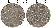 Изображение Монеты ФРГ 2 марки 1975 Медно-никель XF J. Теодор Хойс