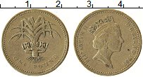 Изображение Монеты Великобритания 1 фунт 1985 Латунь XF Елизавета II.