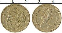Изображение Монеты Великобритания 1 фунт 1983 Латунь XF Елизавета II.
