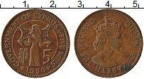 Изображение Монеты Кипр 5 милс 1956 Бронза XF