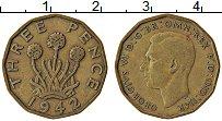 Изображение Монеты Великобритания 3 пенса 1942 Латунь XF