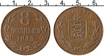 Изображение Монеты Гернси 8 дублей 1945 Бронза XF