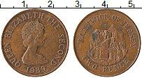 Изображение Монеты Остров Джерси 2 пенса 1989 Бронза XF Елизавета II.