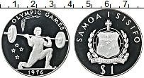 Изображение Монеты Самоа 1 доллар 1976 Серебро Proof Олимпийские игры. Тя