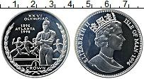 Изображение Монеты Остров Мэн 1 крона 1996 Серебро Proof Олимпийские игры. Бе