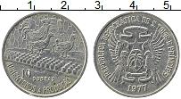 Изображение Монеты Сан-Томе и Принсипи 10 добрас 1977 Медно-никель XF ФАО. Птицефабрика