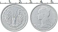 Изображение Монеты Французская Западная Африка 2 франка 1948 Алюминий VF