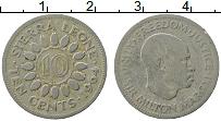 Изображение Монеты Сьерра-Леоне 10 центов 1964 Медно-никель XF Милтон Маргаи